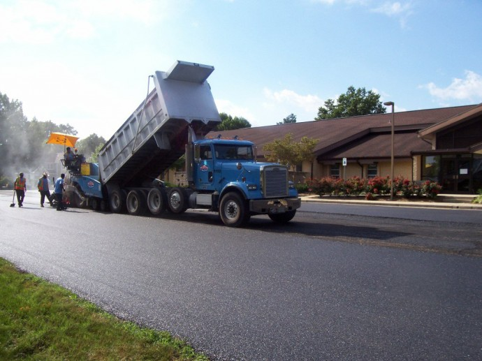 Paving at LDS Church in Frederick, MD