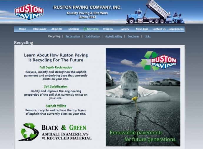 Ruston Paving's Recycling Page