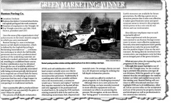 Green Awards Article