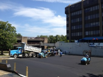 Paving Chapel Hill Public Parking Lot