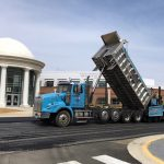 Ruston Paving installing asphalt at Thomas Jefferson High School in Alexandria
