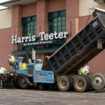 Ruston Paving installing asphalt at Harris Teeter