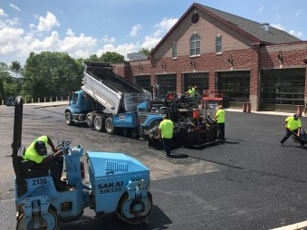 Paving at Manlius Fire Station