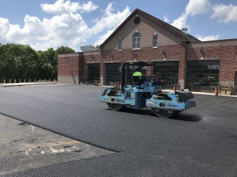 Compaction at Manlius Fire Station