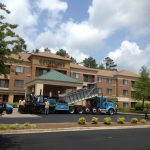 Ruston Paving installing asphalt at Courtyard Marriott