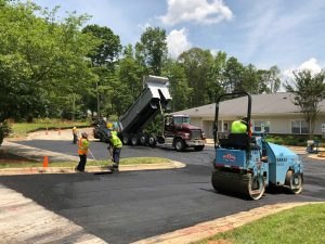 Paving at Abbottswood