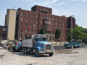 Paving at Samaritan Hospital