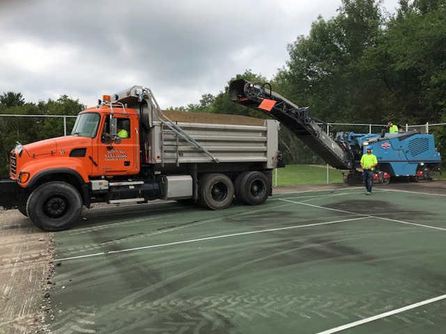 Tennis Court Milling