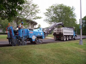 Ruston Paving milling machine removing asphalt