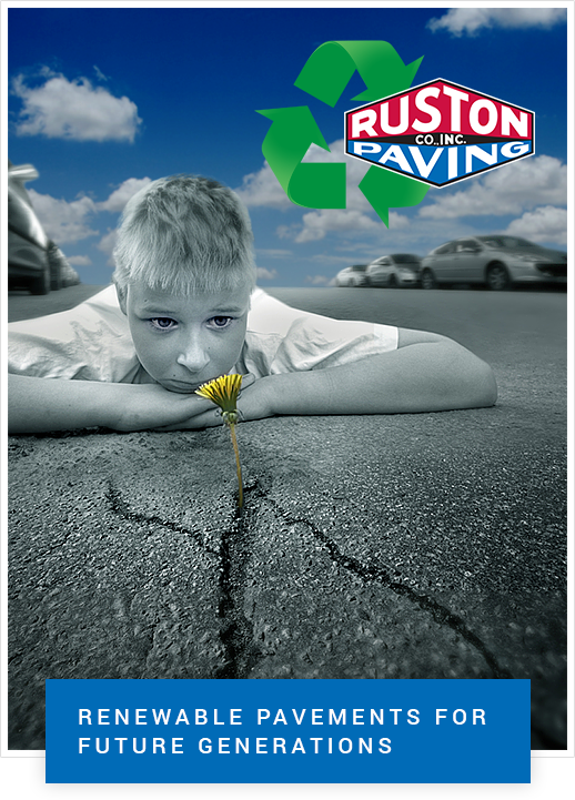 boy looking at flower growing through broken pavement