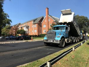 Ruston Paving installing asphalt at Malvern Manor in Richmond
