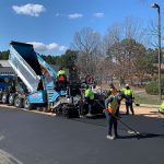 Paving at Hemlock Plaza